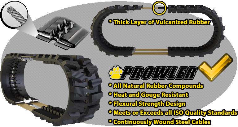 premium prowler rubber track design